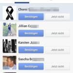 Dozens of friend requests after the plane crash